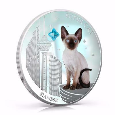 Fiji 2013 $2 Dogs & Cats IV Super Cat - Siamese 1 Oz Silver Proof Coin