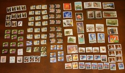Lot of Assorted Canada Post Stamps Uncancelled Off Paper No Gum. (Assorted 5)