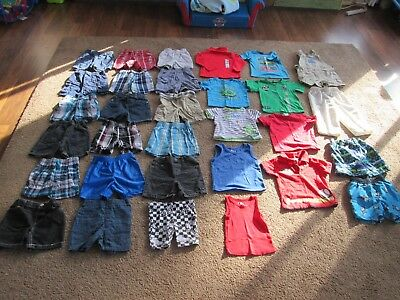 Lot of 31 Pieces Baby Toddler BOYS 18 month Spring / Summer / Clothes