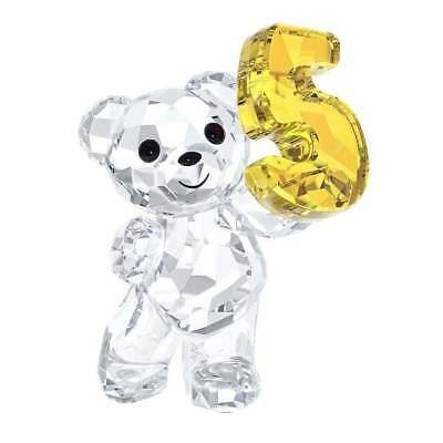 New In Box Swarovski Retired Kris Bear Number Five 5 Birthday Figurine #5108727