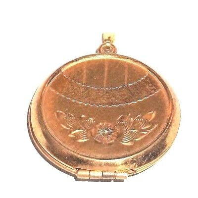 Antique vintage Victorian rose gold fill Locket old pics inserts and frames