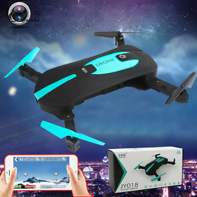 Mini 4CH 6-Axis Foldable RC Quadcopter WIFI FPV HD Camera Drone JY018 3D Roll