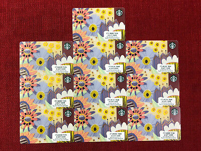 10 New Starbucks 2018 Spring Gift Cards Lot Limited 6149