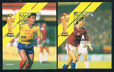 Gambia 1990 World Cup Football MS SG 1068 MNH