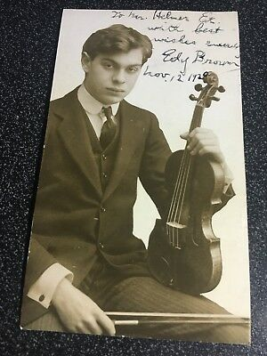 1920 Signed Photograph - Eddy Brown American Violinist