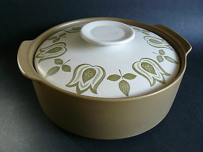 Vintage J&G MEAKIN Retro MAIDSTONE TULIP TIME Lidded Vegetables Dish Casserole