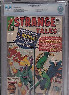 Strange Tales #123 cbcs 5.5 auction  First appearance Blue Beetle silver age key