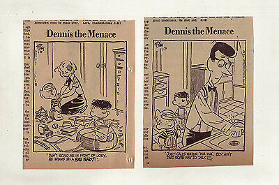 Dennis the Menace by Hank Ketcham - 24 daily comic strips from January 1958