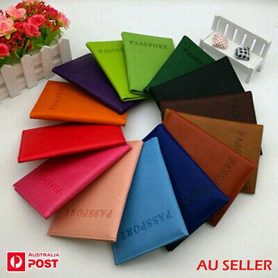 Passport Cover Protector Holder Case Wallet Organizer Different Colours AU Stock