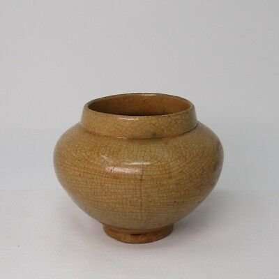 F855: REAL Korean old porcelain ware small jar of Joseon-Dynasty age