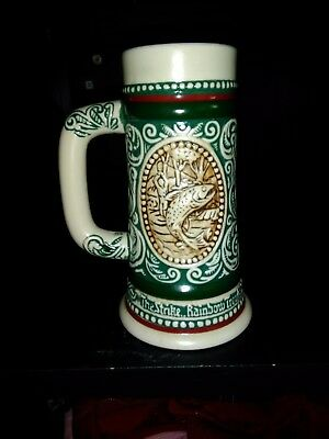 Collectable Avon Mini Beer Stein Hunt & Fish- Handcrafted Brazil1983 #375616