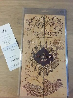 Warner Brothers Authentic Harry Potter Brand New Marauder's Map With Receipt