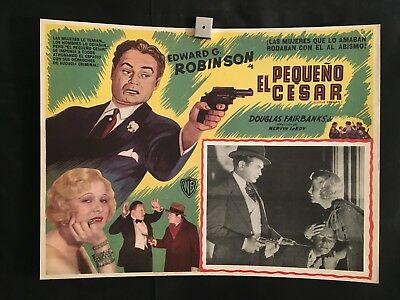 Little Caesar '50 Mexican Lobby Card Movie Poster Gangster Mob Edward G Robinson