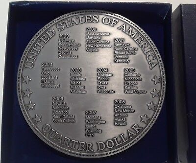 Cathedral Art Metal Company 2000 Quarter Collection Collectable Plate USA