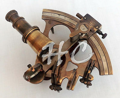 Collectible Nautical Brass Sextant Astrolabe Ship Instrument Antique Sextant