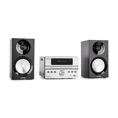 Micro Midi Hifi Stereo Anlage Bluetooth Usb Mp3 Cd-Player Radio Lautsprecher