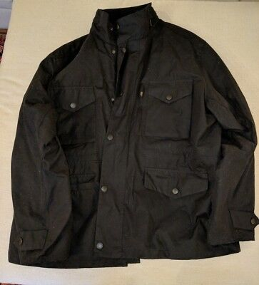 Mens BARBOUR Sapper WAXED Coat Jacket Black Size XXL, new without tags