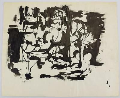 Ink On Paper EARLY SALVATORE GRIPPI ORIGINAL ABSTRACT EXPRESSIONIST ... Lot 5085
