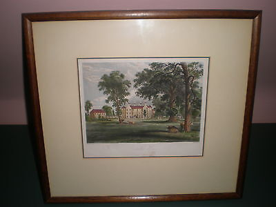 Antique print hand coloured  Balcaski House ,built 1629 for the Moncriefs of Ilk