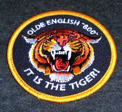 Vintage Original 1970's Olde English 800 Beer Route Drivers Shirt Patch