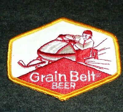 Vintage Original 1970's Grain Belt Beer, Snowmobile Beer Shirt Patch