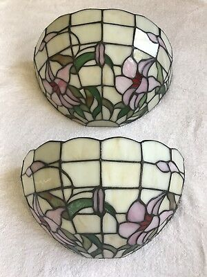 Pair (2) Lead Light Side Wall Lamps - New