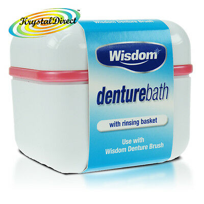 Wisdom Denture Bath Rinsing Basket Bowl Dental Storage Box Container Case