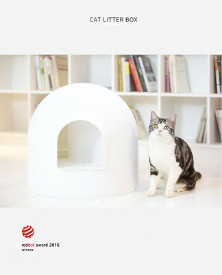 Pidan Snow House Igloo Portable Hooded Cat Toilet Litter Box Tray House w/ Scoop
