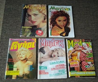 Madonna lot 8 Greek magazines 1986-2008 poster, features, heat transfer PLAYBOY