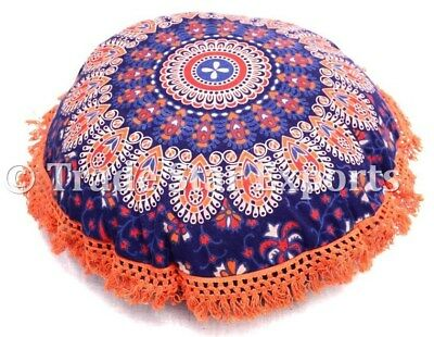 "Mandala Cushion Cover Indian Ethnic Throw Pillow Case Decorative Round 16"" Cover"