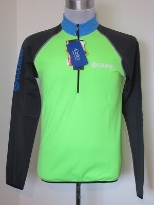 COLMAR Mens Lime Green & Black 1/2 Zip Ski Mid Layer Pullover Top Large BNWT