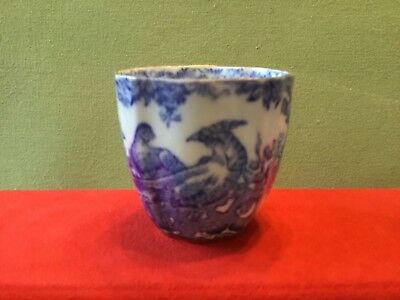 Delightful Blue and White Royal Crown Derby Egg Cup from 1946 - Pheasants