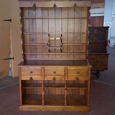 Antique/reproduction Bespoke Solid Oak Large Dresser In The Arts & Crafts Design