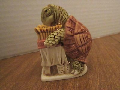Harmony Kingdom 1997 Wishful Thinking Trinket Box Tortoise W/Birthday Cake W/Box