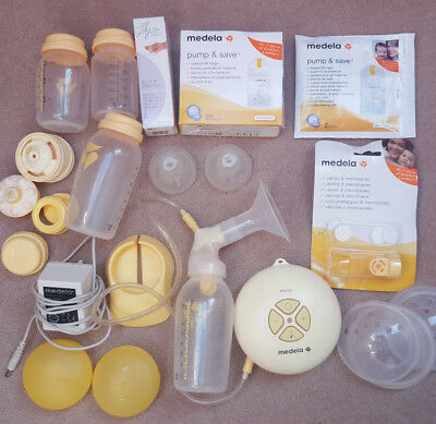 Big Medela swing electric breast pump bundle