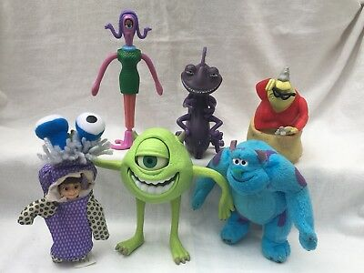 ~ DISNEY PIXAR ~ MONSTERS INC ~ 6 x ACTION FIGURES ~ MIKEY SULLEY BOO
