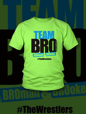 "New Wwe/tna Impact Wrestling Jerzees ""team Bro"" X-Large Sized Cotton T-Shirt"