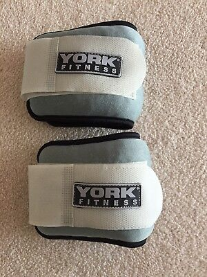 PAIR OF YORK 1kg Each ANKLE WRIST WEIGHTS
