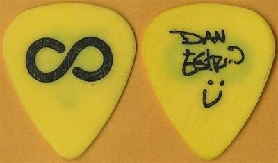 Hoobastank Dan Estrin authentic 2003 concert tour signature Guitar Pick - yellow
