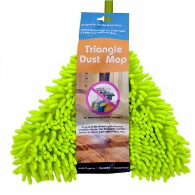 Dust Mop Triangle mop with Washable Microfiber Head.
