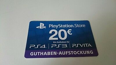 20 Euro Österreich PlayStation Store Card 20€ Eur PSN Network Key PS3/4 Vita- AT