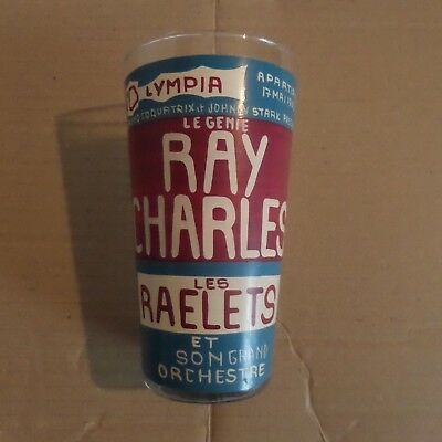 Ray Charles Verre Olympia 1963 Olympia Affiche Programme