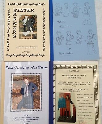 4 Knitting Machine Pattern Books assorted including Ann Brown
