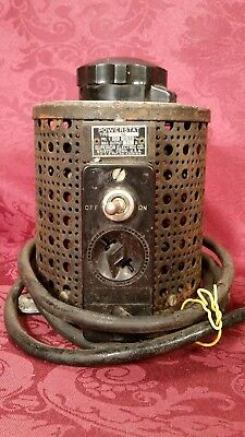 Vintage Superior Electric Powerstat # 116 Variable Variac  0-140 V~Please Read!