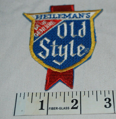 New Vintage Pocket/Shoulder Patch Heileman's Old Style Liquor Beer Advertising