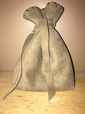 Leather Drawstring, Dice Bag, Coin Pouch
