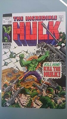 The Incredible Hulk # 120  -Vf  The Inhumans Story  Pence  1969