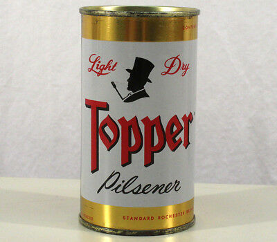 Topper Pilsener Super Clean Flat Top Beer Can Rochester New York Ny Bank Top Hat