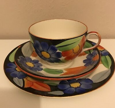 Susie Cooper Grays Pottery Hand Painted Trio