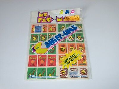 Vintage 1980 Ms. Pac-Man Rose & Orange Scratch & Sniff Stickers Sniff-Ums